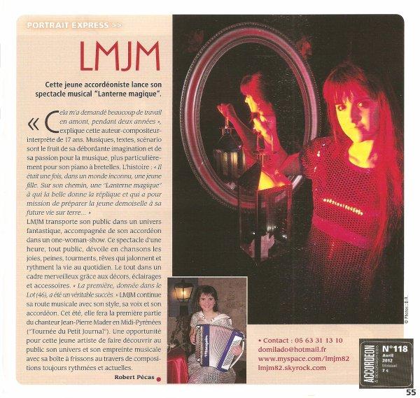 LMJM ... ARTICLE DE PRESSE