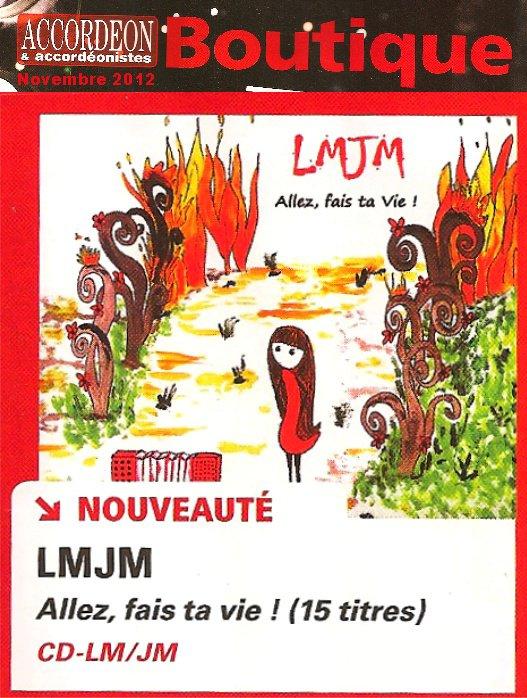 """""""Allez, fais ta Vie !"""" dans la boutique du magazine Accordéon & Accordéonistes"""