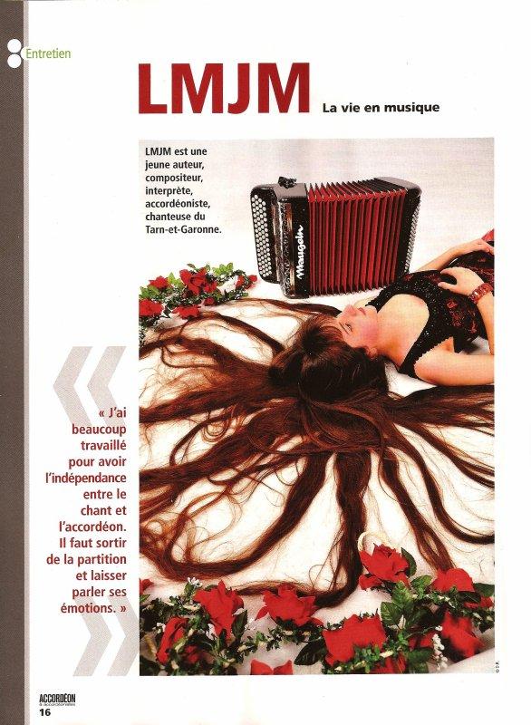 LMJM dans le magazine Accordéon & Accordéonistes Janvier 2013 Publication Nationale