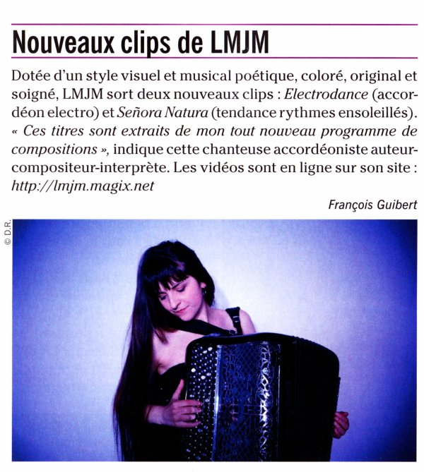 "Article LMJM dans ""Accordéon & Accordéonistes"""