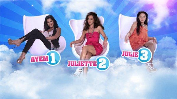 Ayem,Juliette et Julie les 3 nominée de la 2eme semaine