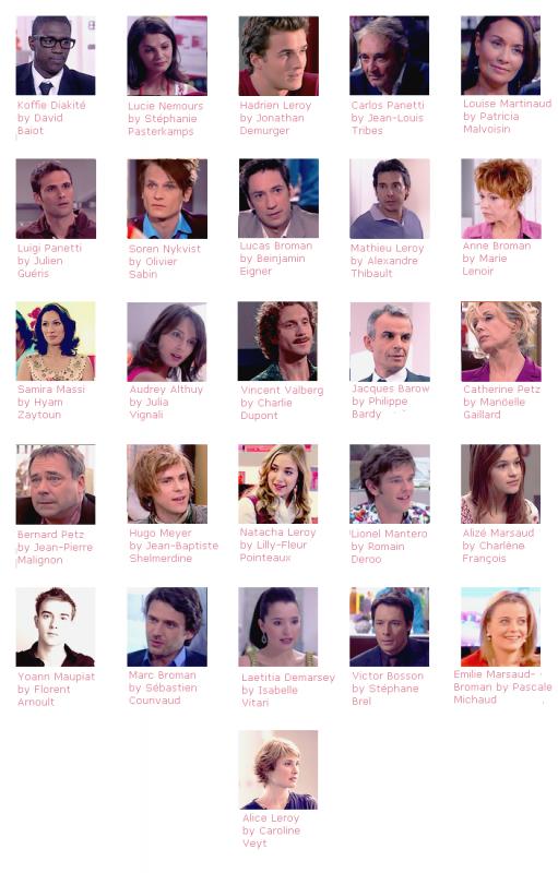 Les personnages récurrents de la saison 1