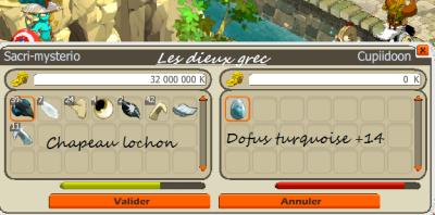 Vend dofus turquoise + 14 a un guildeux