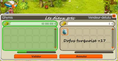 Vente des dofus turquoise +17- +17- +11 & achat du dernier brelle