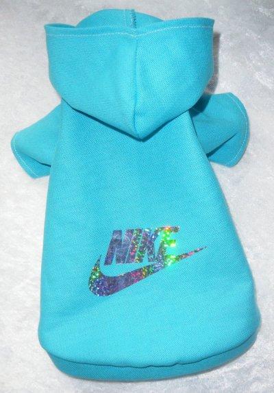 T shirt brillant bleu turquoise sport