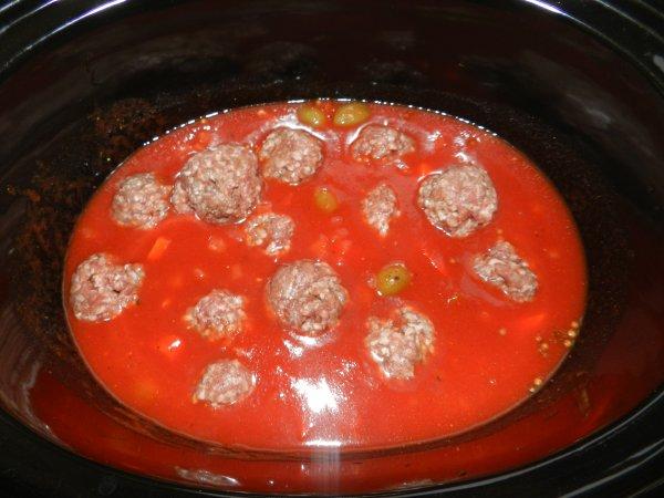 Boulettes de viande en mijoteuse façon orientale