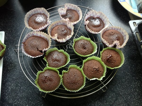 Des coulants au chocolat cro-cro bons !!!!