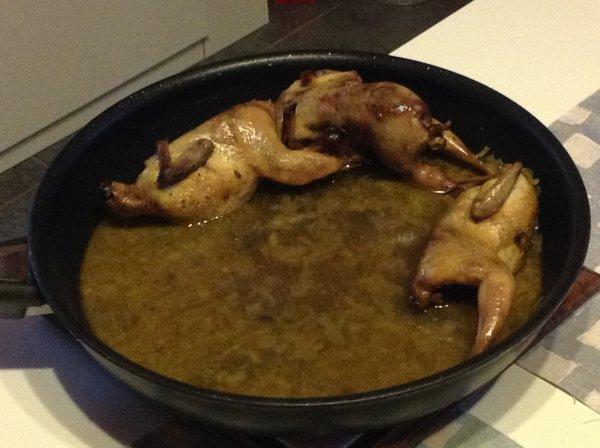 Cailles à la crème de curry de Mamigoz