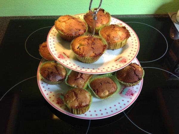 Muffins rhubarbe et chocolat blanc