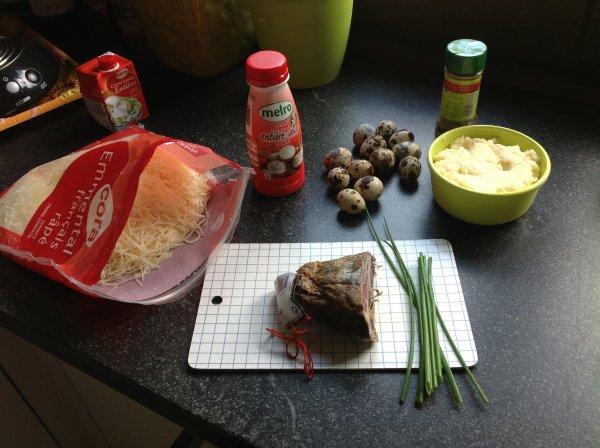 Muffins aux pommes de terre et coppa