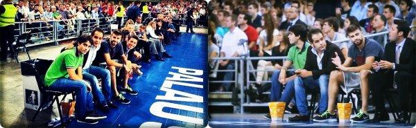 09.10.12 || Gerard Piqué à été voir le match de Basket FC Barcelone - Dallas Mavericks ... Voici les clichers