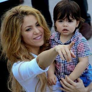 Shakira et son fils (Milan)