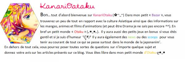 Mon petit monde d'Otaku  (◕ヮ◕)*:・゚✧
