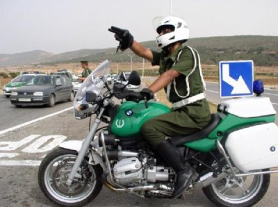LES MOTARDS DE LA GENDARMERIE NATIONAL ALGERIEN