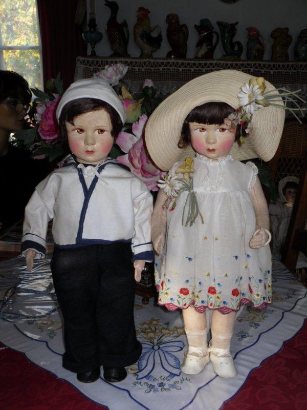 Quelques poupées en feutrine ou tissu bourré