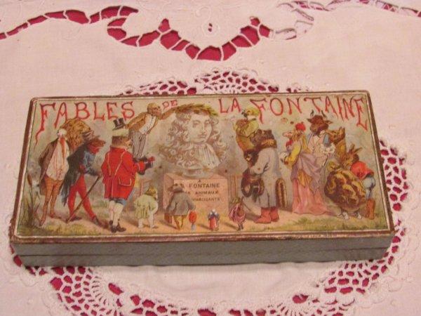 Petite boîte Fables de la Fontaine