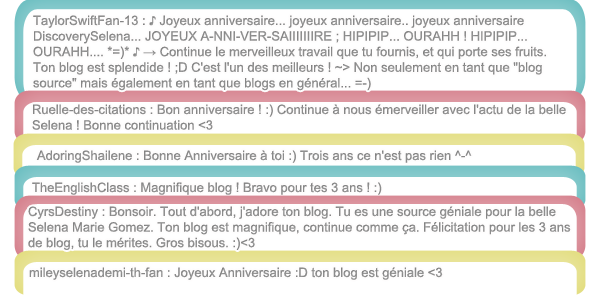 www.DISCOVERYSELENA.skyrock • Fête ses 3 ans d'existance !