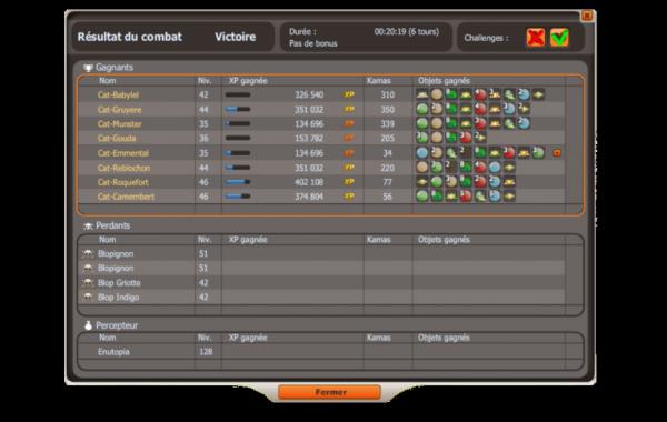 Screens fin de combat (Babzeru)