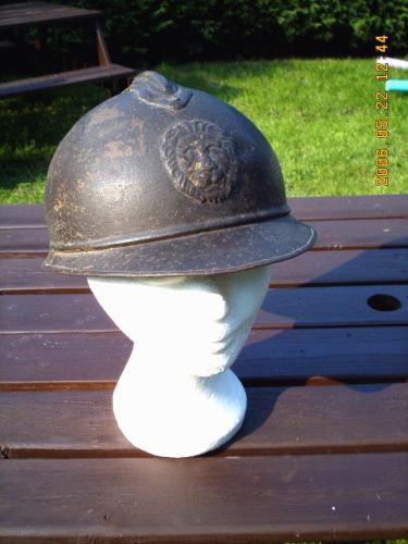 3. BELGIQUE - Casque belge Adrian de la Première Guerre Mondiale
