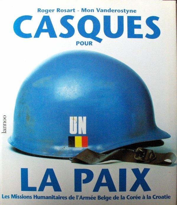 42. BELGIQUE - ONU - Casque belge Modèle OTAN 51aux couleurs des Nations-Unies