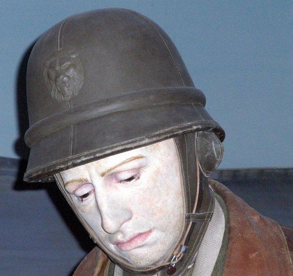 44. BELGIQUE - Casque Motocycliste Armée Belge vers 1937