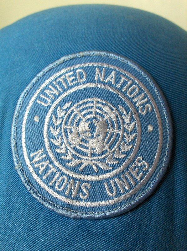 54. BELGIQUE - Casque Kevlar ABL, aux couleurs des Nations-Unies