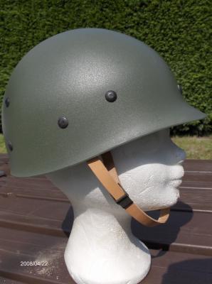 176. BELGIQUE - Casque ABL Modèle OTAN 1951, coiffe ou sous-casque