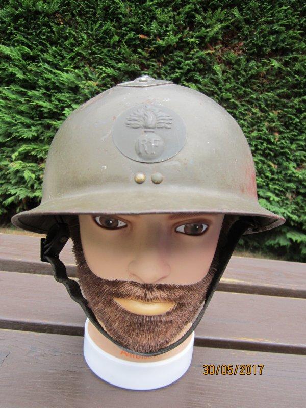 84.1 FRANCE Modèle 26 Infanterie avec coiffe en cuir et feutrine