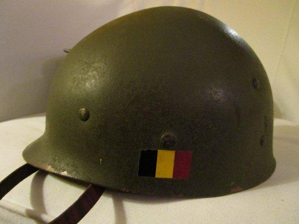 847.1 - CONGO BELGE - Casque Modèle 51 Force Publique