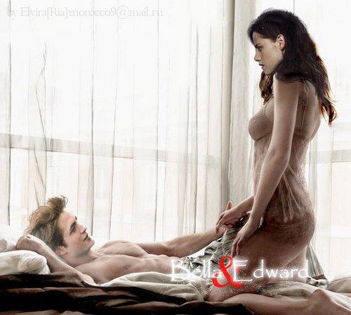 Edward et Bella sur l' ile d' Esmée