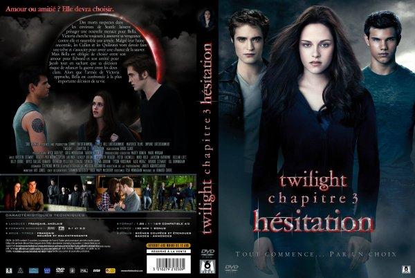 voici le pochette du DVD de Twilight Hésitation