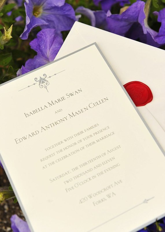 L' invitation au marriage de Bella et Edward