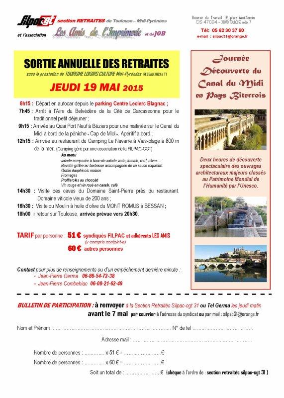SORTIE ANNUELLE DE LA SECTION DES RETRAITES