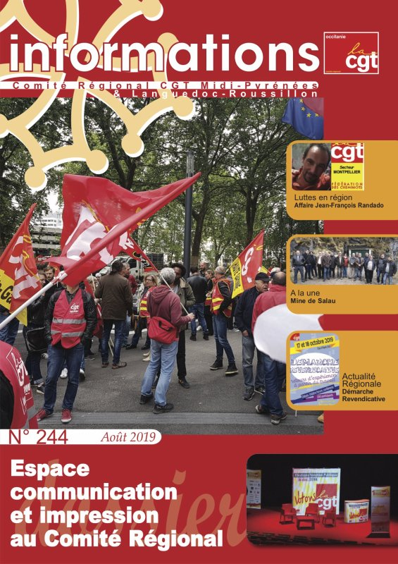 INFORMATIONS N°244 (AOUT 2019)