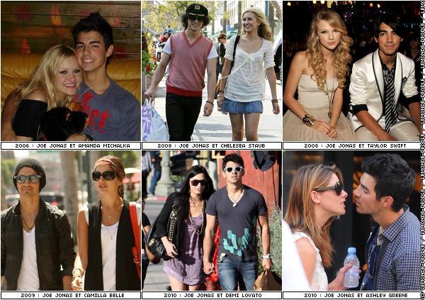 Joe Jonas et ses conquêtes : quel couple préférez-vous?