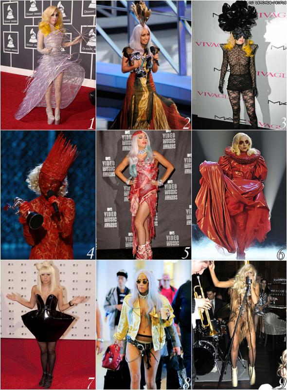 Quelle est la tenue la plus extravagante de Lady GaGa?