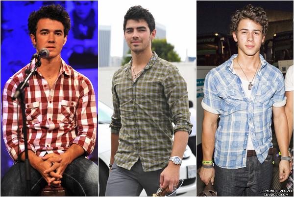 Les chemises a carreaux et les Jonas Brothers, une grande histoire d'amour...  Mais qui la porte le mieux?