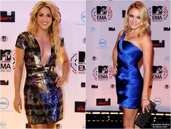 Quelle est votre tenue préféré lors des MTV European Music Awards?