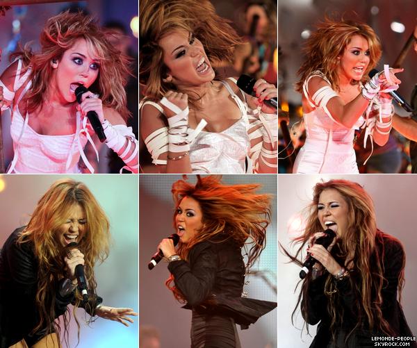 Miley se déchaine sur scène, parfois même un peu trop...