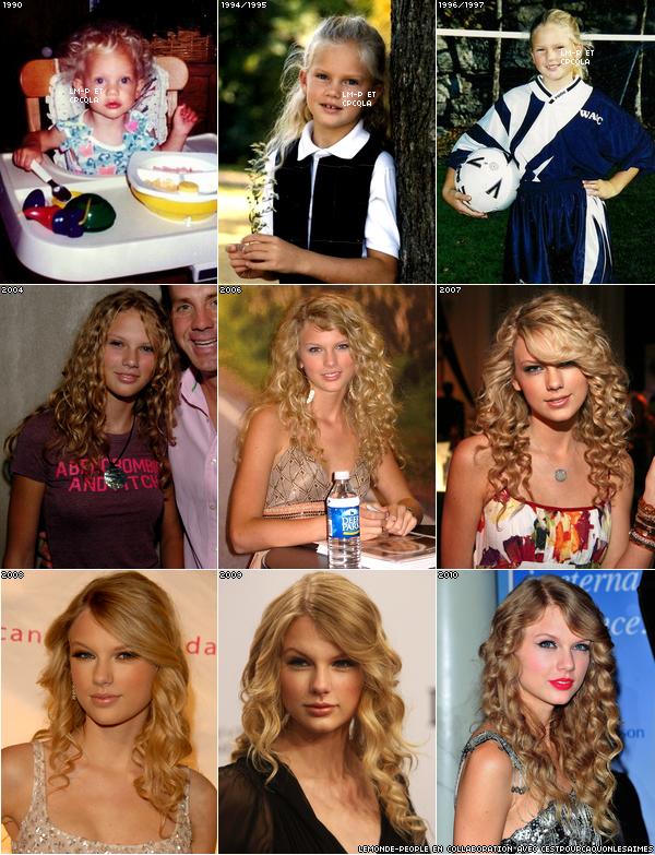 Évolution de Taylor Swift de 1990 à 2010 : quelle est votre année préférée?
