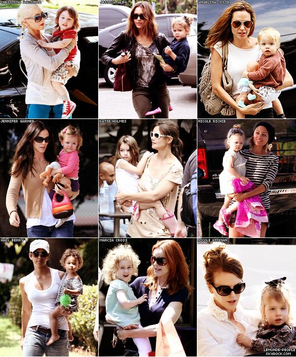 Qu'elles soit en tournée ou en tournage les mamans stars trouvent toujours du temps pour leur petit chéri..! Qui de ces enfants est le plus joli? Ressemble t'ils a leur maman?