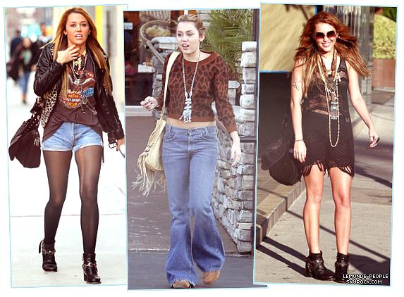 Le nouveau style de Miley Cyrus ; veritable fashionista ou simple laisser aller?  Vos avis m'interesse!