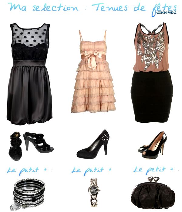 Voici quelques idées pour vos tenues de fêtes!