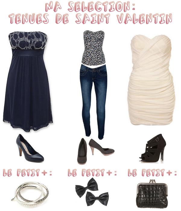 Voici quelques idées pour vos tenues de Saint Valentin!