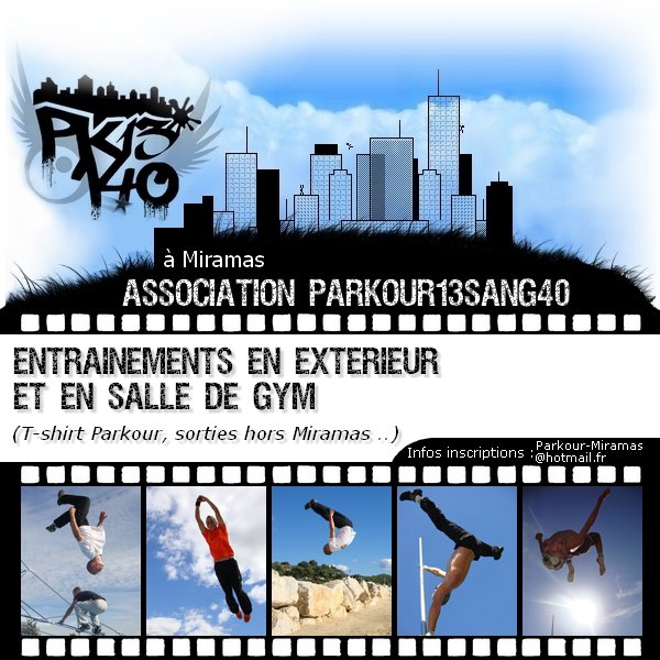 Association de Parkour à Miramas - Parkour13sang40