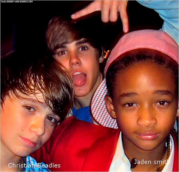 .  Photos de Justin, Christian Beadles et Jaden Smith. .