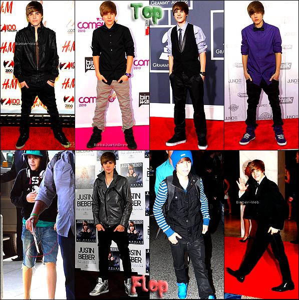 . Les Tops/Flops de Justin en 2010Article en collaboration avec BiebsJustinDrew .