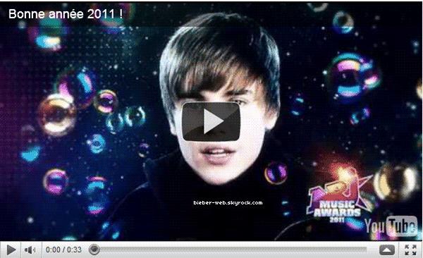. Justin te souhaite bonne année ( 00:12 ) sur NRJ.  .