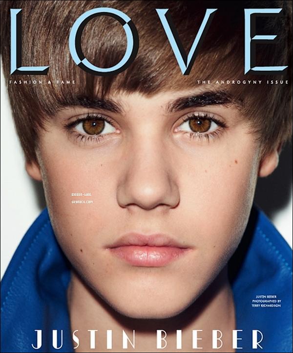 .    Justin a été photographié par Terry Richardson pour les besoins de la couverture du magazine LOVE qui sortira le 7 février prochain. .