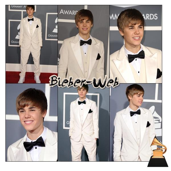.   13/02/11  -  Justin était présent à la 53e cérémonie des Grammy Award 2011, il n'a malheureusement gagner aucun prix, il a performé avec Usher et Jaden !   .